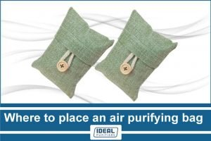 Where to place an air purifying bag